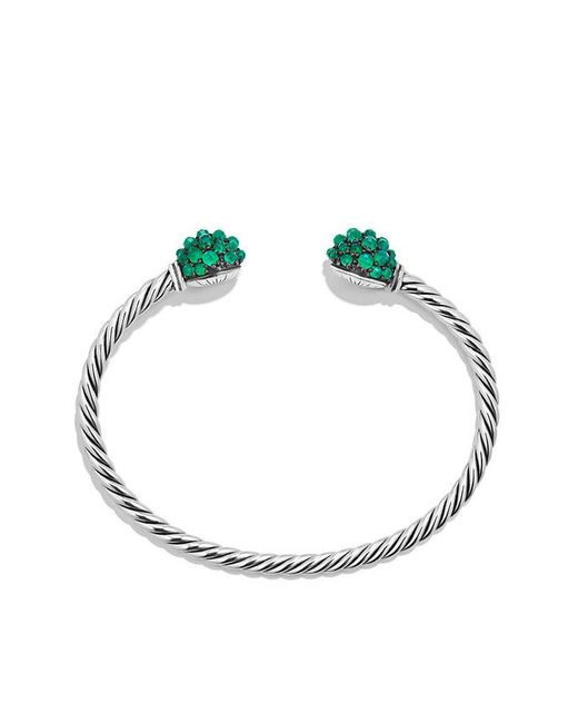 David Yurman | Osetra End Station Bracelet With Green Onyx | Lyst