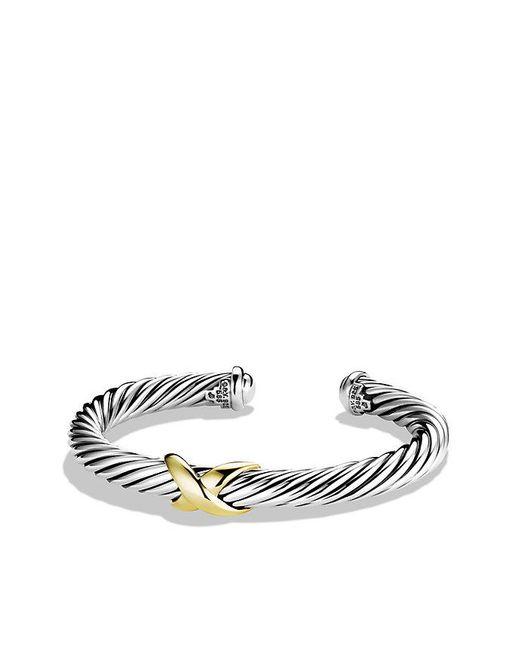 David Yurman | Metallic X Bracelet With 14k Gold | Lyst