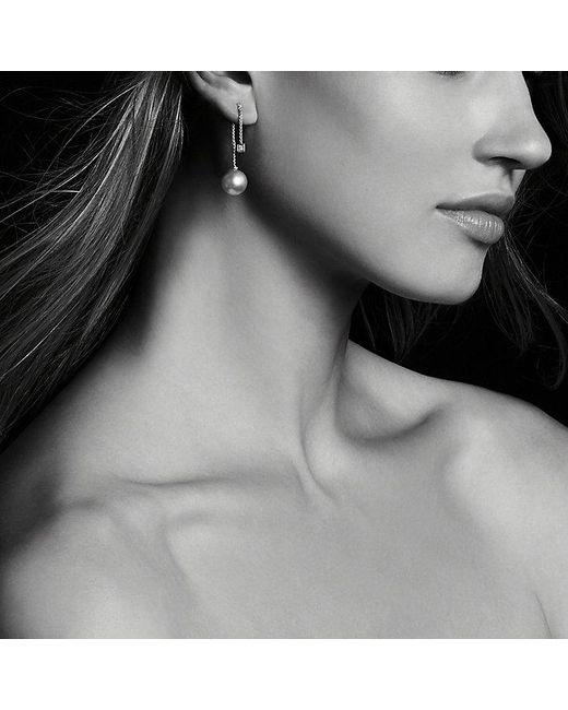 David Yurman   Metallic Solari Drop Earrings In 18k Gold With Diamonds And South Sea Yellow Pearl   Lyst