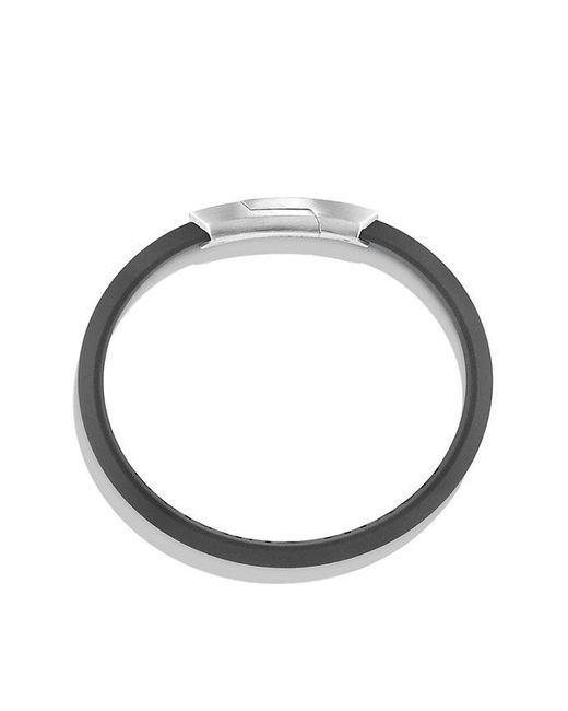 David Yurman | Fused Meteorite Id Rubber Bracelet In Gray | Lyst