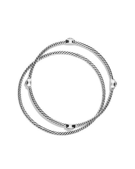 David Yurman | Metallic Color Classics Bangles With Crystal | Lyst