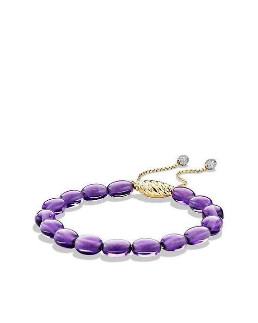 David Yurman - Purple Spiritual Bead Bracelet With Amethyst And Diamonds In 18k Gold - Lyst