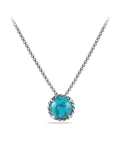 David Yurman - Blue Châtelaine® Pendant Necklace With Turquoise - Lyst