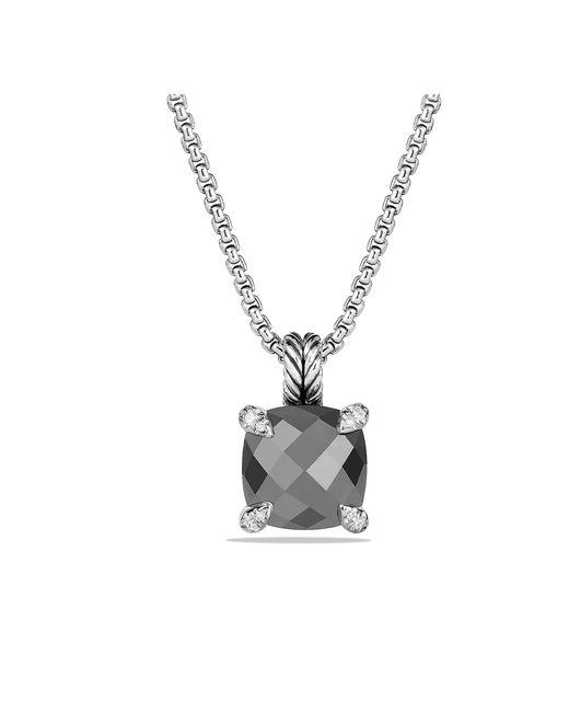 David Yurman - Metallic Châtelaine Pendant Necklace With Hematine And Diamonds, 11mm - Lyst