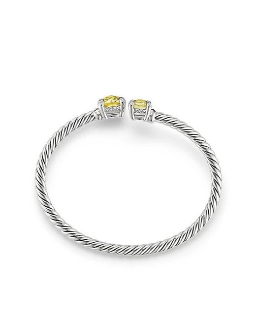 David Yurman - Metallic Chatelaine® Bypass Bracelet With Lemon Citrine And Diamonds - Lyst