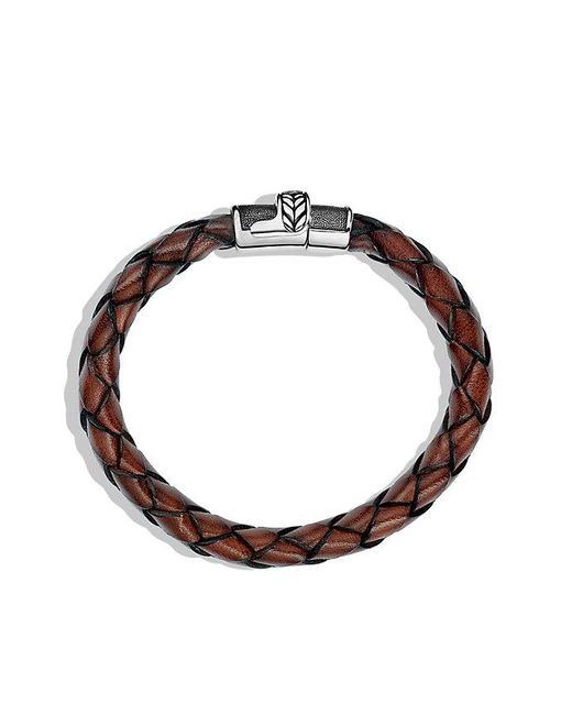 David Yurman | Chevron Bracelet In Brown Leather for Men | Lyst