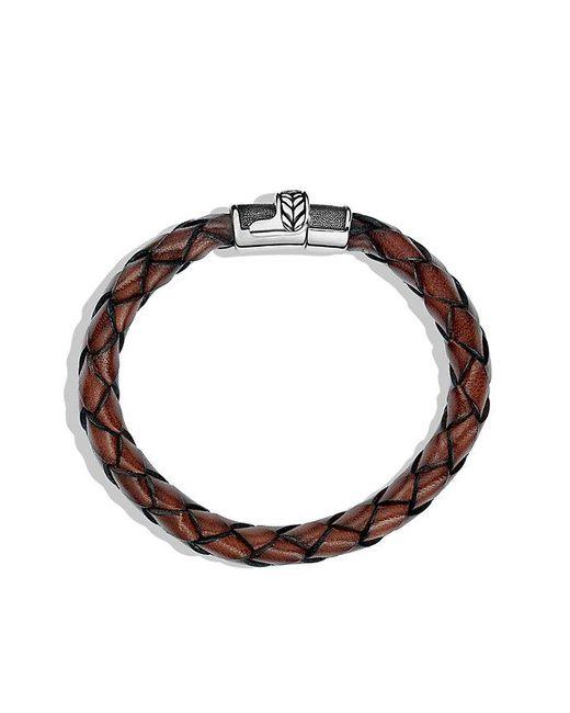 David Yurman | Chevron Bracelet In Brown Leather for Men | Lyst