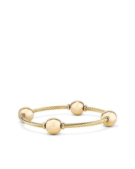 David Yurman | Metallic Mustique Four Station Bangle Bracelet In 18k Yellow Gold | Lyst