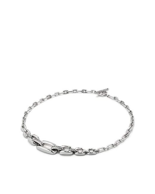 David Yurman - Metallic Wellesley Link Chaintm Station Necklace With Diamonds - Lyst