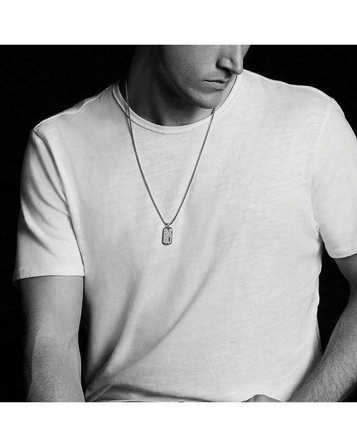 David Yurman | Metallic Pavé Tag With Gray Sapphires for Men | Lyst