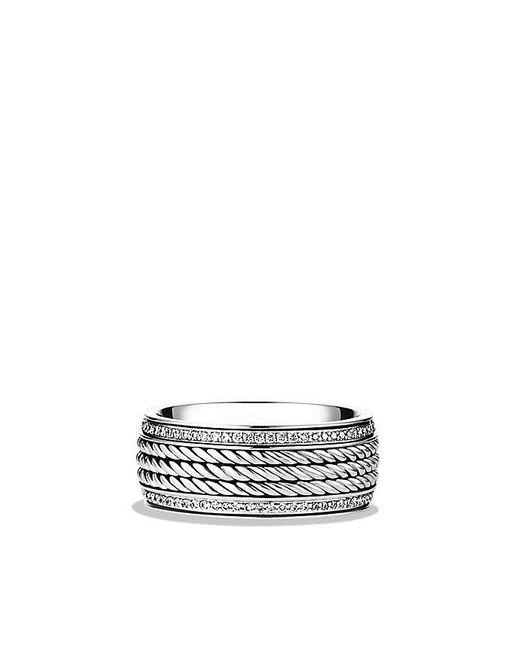 David Yurman | Metallic Maritime Rope Band Ring With Diamonds for Men | Lyst