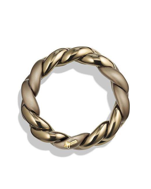David Yurman | Metallic Belmont Curb Link Bracelet In Titanium With An Accent Of 18k Gold | Lyst