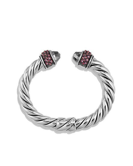 David Yurman | Metallic Osetra Bracelet With Hematine And Rhodalite Garnet, 10mm | Lyst