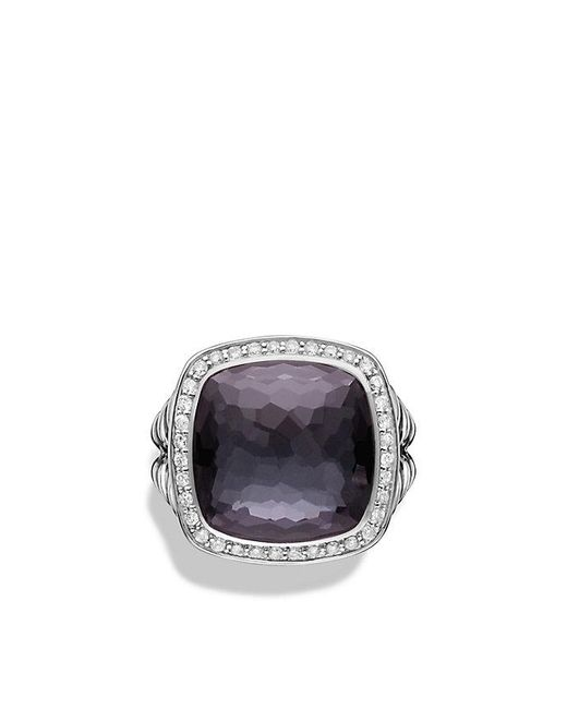 David Yurman - Metallic Albion® Ring With Black Orchid And Diamonds, 14mm - Lyst