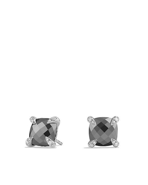 David Yurman   Multicolor Châtelaine® Earrings With Hematine And Diamonds, 9mm   Lyst