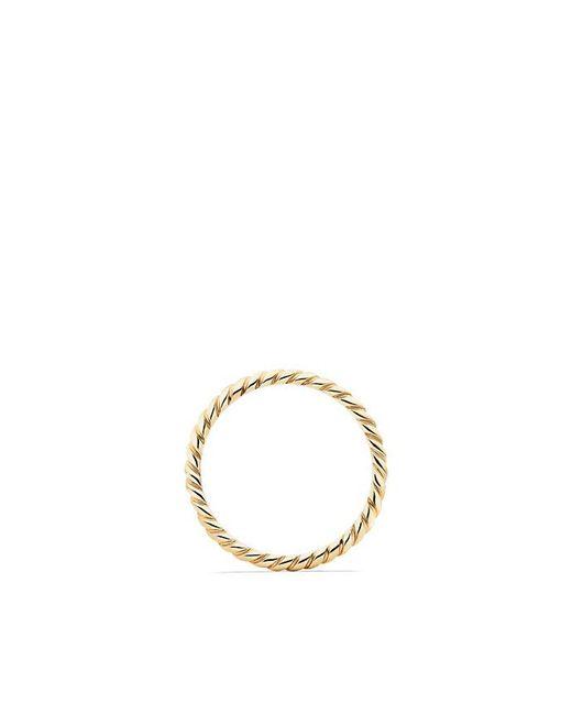 David Yurman | Metallic Dy Unity Cable Wedding Band In 18k Gold, 2mm | Lyst