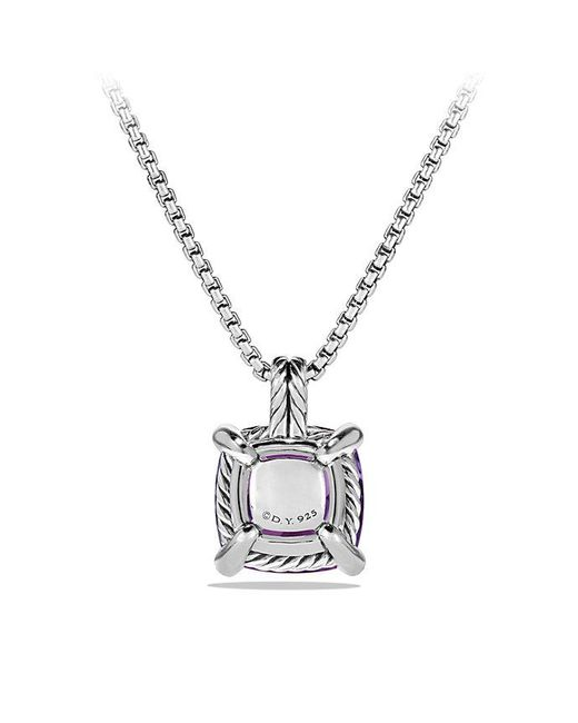 David Yurman - Blue Châtelaine® Pendant Necklace With Amethyst And Diamonds, 14mm - Lyst