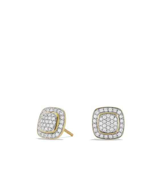 David Yurman - Metallic Petite Albion Earrings With Diamonds In 18k Gold - Lyst