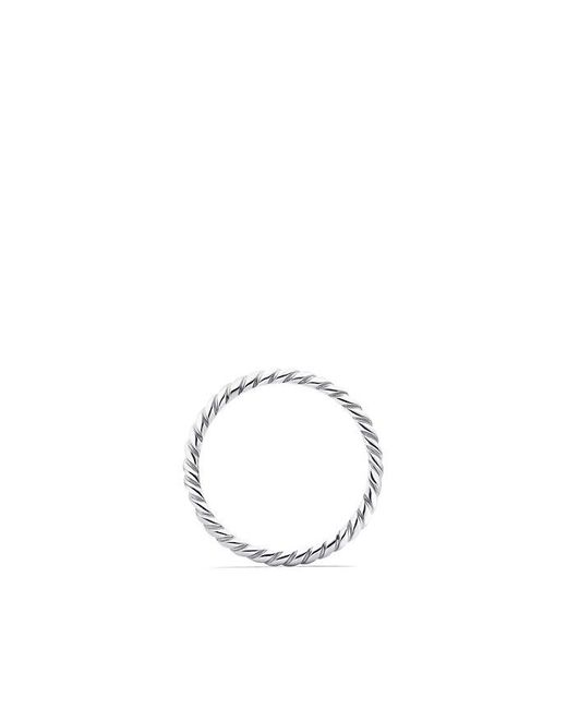 David Yurman | Metallic Dy Unity Cable Wedding Band In Platinum, 2mm | Lyst
