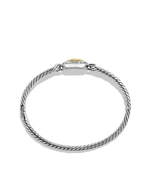 David Yurman | Metallic Albion® Bracelet With Diamonds And 18k Gold, 6mm | Lyst