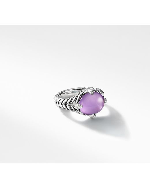 David Yurman - Multicolor Chatelaine® Single Stone Ring With Amethyst And Diamonds - Lyst
