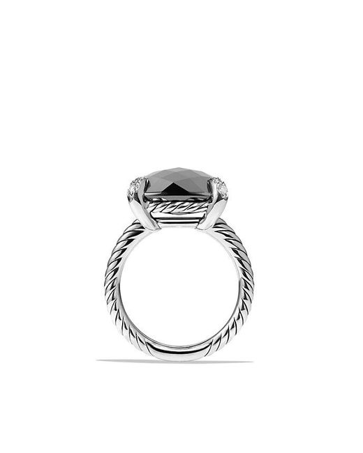 David Yurman - Metallic Châtelaine Ring With Hematine And Diamonds, 14mm - Lyst