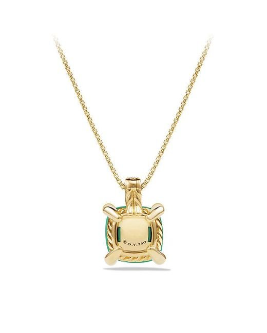 David Yurman | Metallic Châtelaine Pendant Necklace With Chrysoprase And Diamonds In 18k Gold, 11mm | Lyst