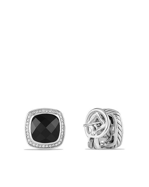 David Yurman - Albion® Earrings With Black Onyx And Diamonds, 11mm - Lyst