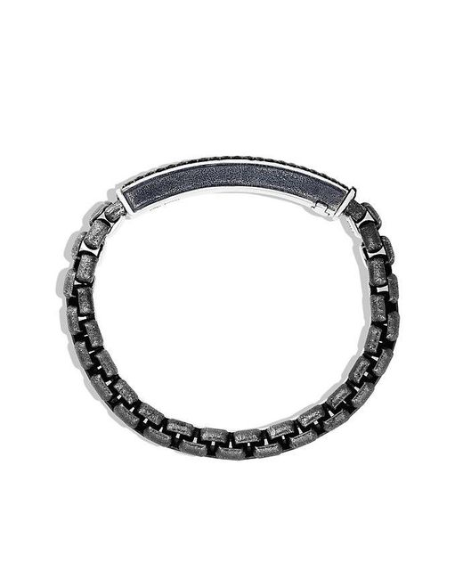 David Yurman - Pavé Id Bracelet With Black Diamonds for Men - Lyst