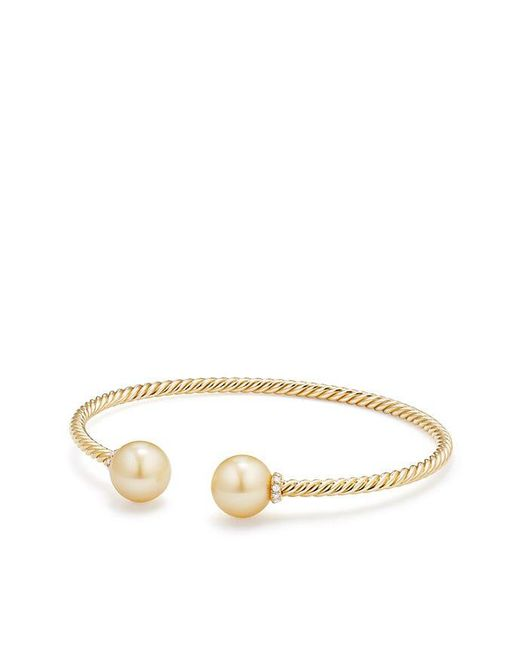 David Yurman - Metallic Solari Bead Bracelet With South Sea Golden Pearl In 18k Gold - Lyst