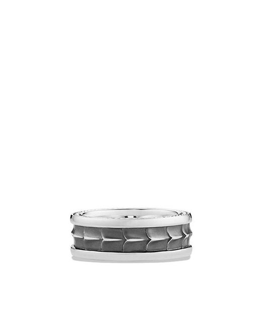 David Yurman | Metallic Armory Narrow Band Ring for Men | Lyst