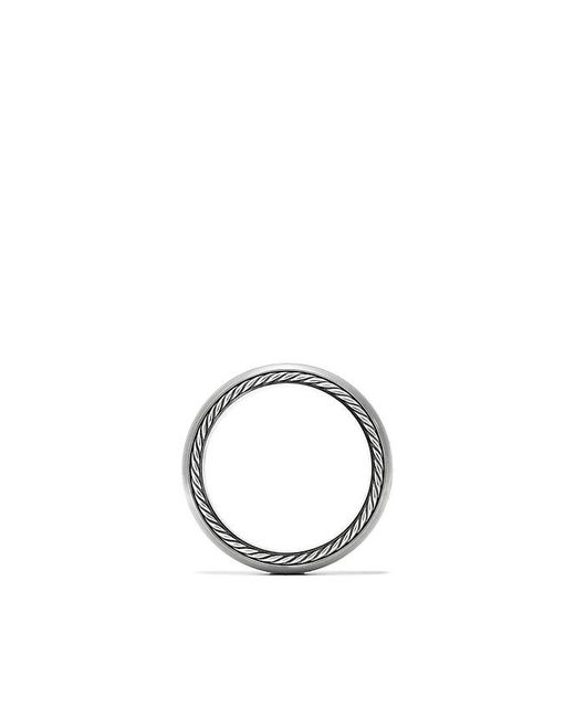 David Yurman - Streamline Narrow Band Ring With Diamonds And Gray Titanium, 6mm for Men - Lyst
