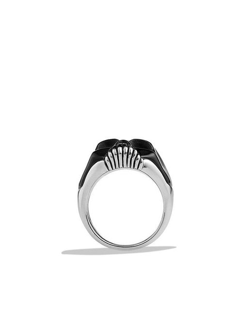 David Yurman - Carved Skull Ring With Black Onyx for Men - Lyst