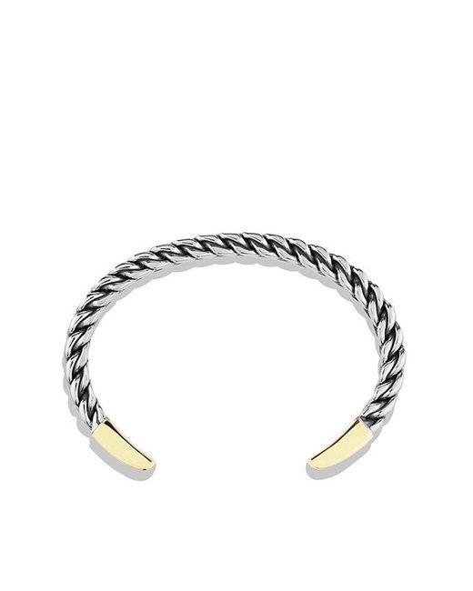 David Yurman | Metallic Woven Cuff Bracelet With 18k Gold for Men | Lyst