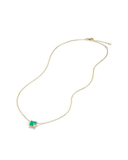 David Yurman | Multicolor Châtelaine Pendant Necklace With Chrysoprase And Diamonds In 18k Gold, 7mm | Lyst