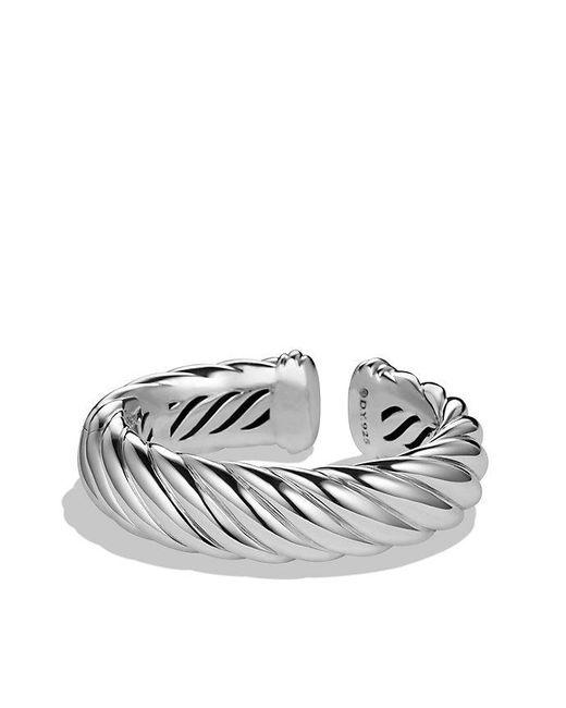 David Yurman - Metallic Sculpted Cable Bracelet, 18mm - Lyst