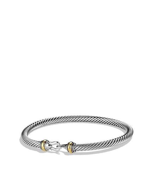 David Yurman - Yellow Crossover Bracelet With Gold And Diamonds - Lyst