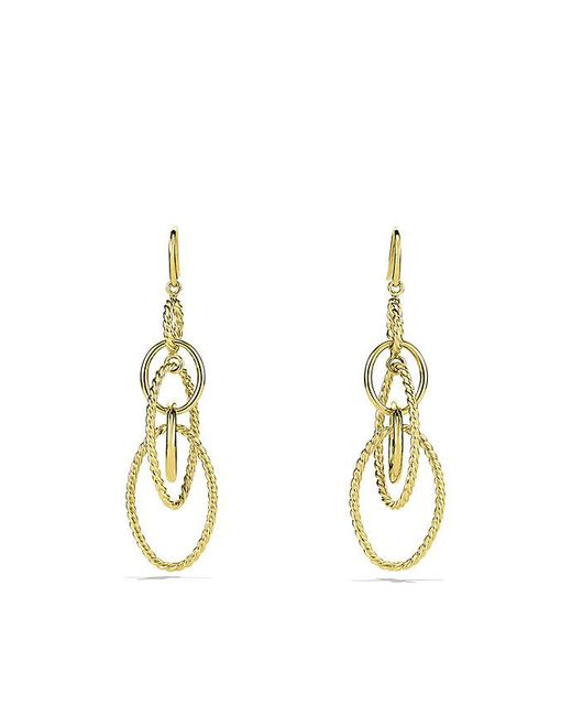 David Yurman | Metallic Mobile Chain Earrings In 18k Gold | Lyst
