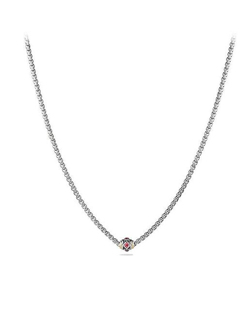 David Yurman - Multicolor Renaissance Chain Necklace With Pink Tourmaline, Rhodalite Garnet And 18k Gold - Lyst