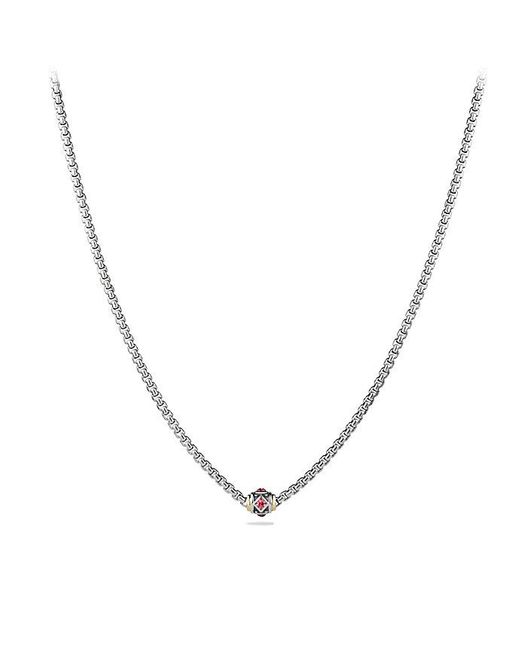 David Yurman | Multicolor Renaissance Chain Necklace With Pink Tourmaline, Rhodalite Garnet And 18k Gold | Lyst