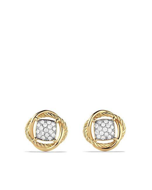 David Yurman - Metallic Infinity Earrings With Diamonds In 18k Gold - Lyst