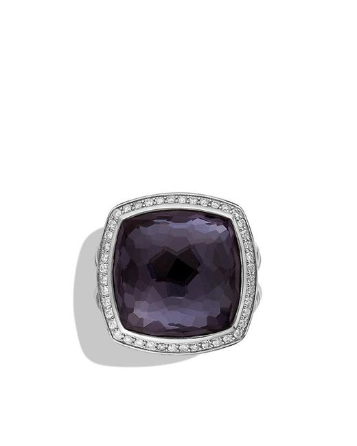 David Yurman | Purple Albion® Ring With Black Orchid And Diamonds, 17mm | Lyst