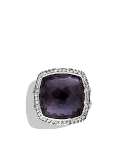 David Yurman - Purple Albion® Ring With Black Orchid And Diamonds, 17mm - Lyst