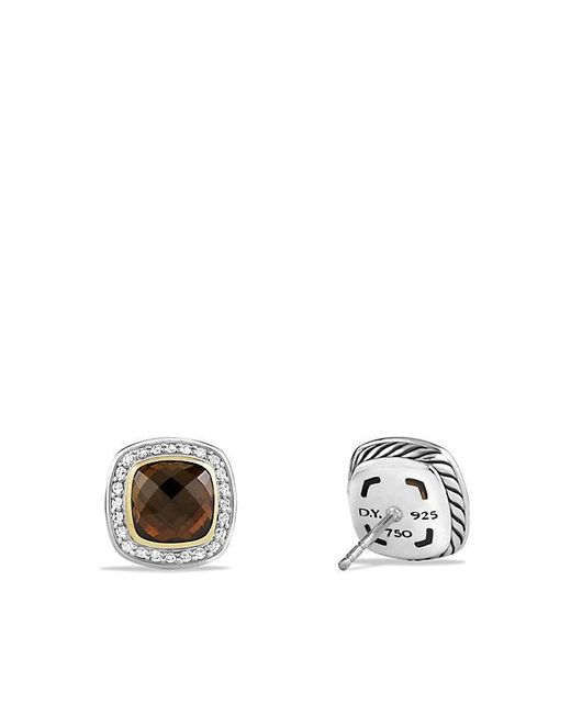David Yurman - Brown Albion® Earrings With Smoky Quartz, Diamonds And 18k Gold - Lyst