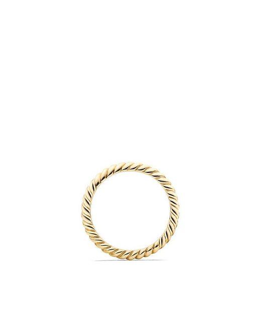 David Yurman | Metallic Dy Unity Cable Wedding Band In 18k Gold, 2.45mm | Lyst