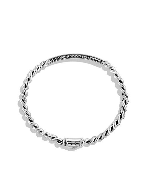 David Yurman - Metallic Petite Pavé Id Bracelet With Diamonds - Lyst