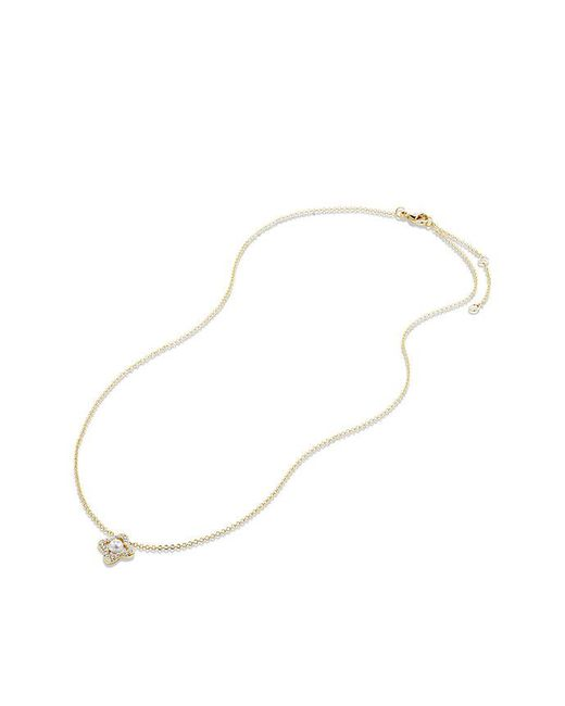 David Yurman | Metallic Venetian Quatrefoil® Necklace With Pearl And Diamonds In 18k Gold | Lyst