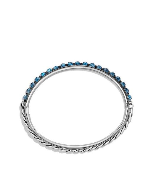 David Yurman - Osetra Bangle Bracelet With Hampton Blue Topaz - Lyst