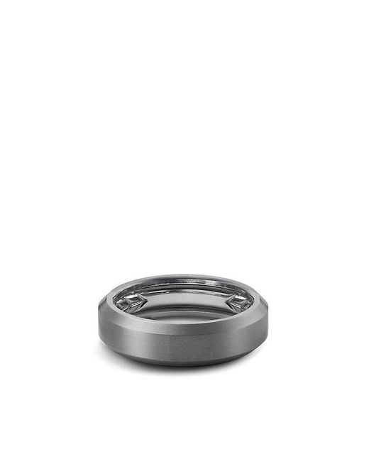 David Yurman - Streamline Beveled Edge Band Ring In Gray Titanium, 6.5mm for Men - Lyst