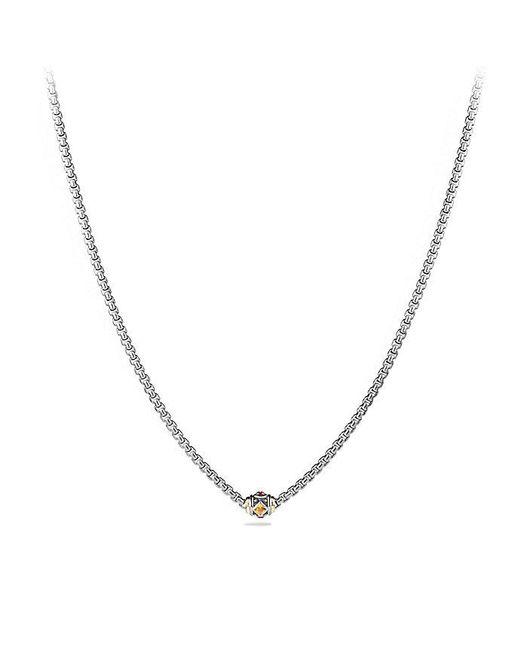 David Yurman | Metallic Renaissance Chain Necklace With Citrine, Rhodalite Garnet And 18k Gold | Lyst